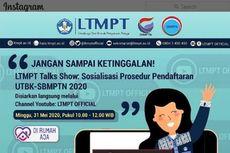 Calon Mahasiswa, Ikuti Sosialisasi UTBK-SBMPTN 2020 Hari Ini Pukul 10.00 WIB