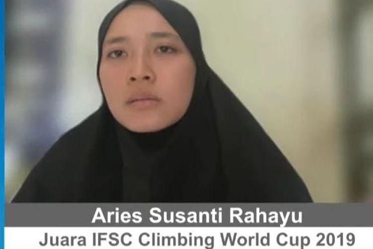 Atlet panjat tebing Jawa Tengah Aries Susanti Rahayu mengatakan bahwa masih banyak kalangan menganggap olahraga ini sebagai olahraga ekstrem.