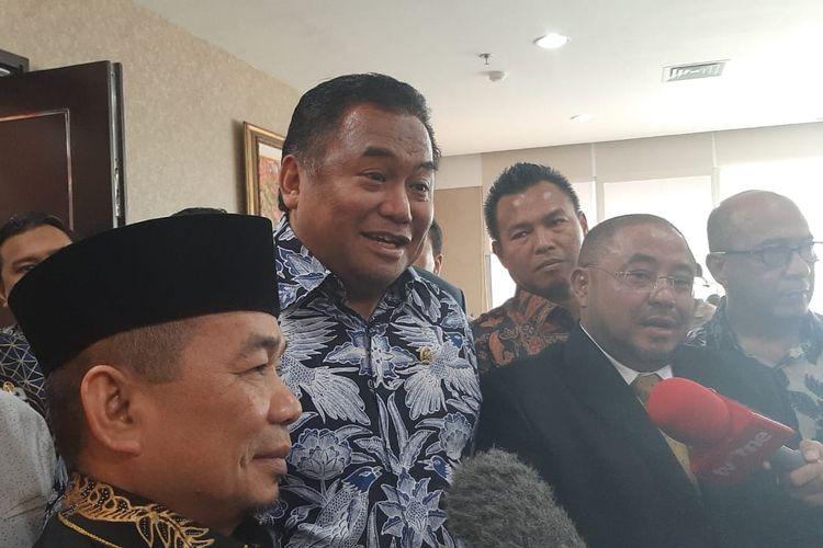 Pimpinan Fraksi PKS dan Nasdem bertemu di DPR, Senayan, Jakarta, Kamis (30/1/2020).