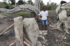 Warga Gunungkidul Temukan Batu Mirip Menhir dan Bergambar Wayang