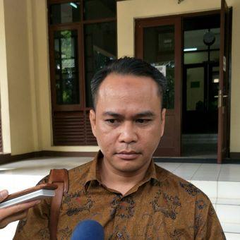 Anggota Tim Kuasa Hukum Direktorat Jenderal Imigrasi Agung Sampurno  di PTUN Jakarta, Kamis (23/11/2017)