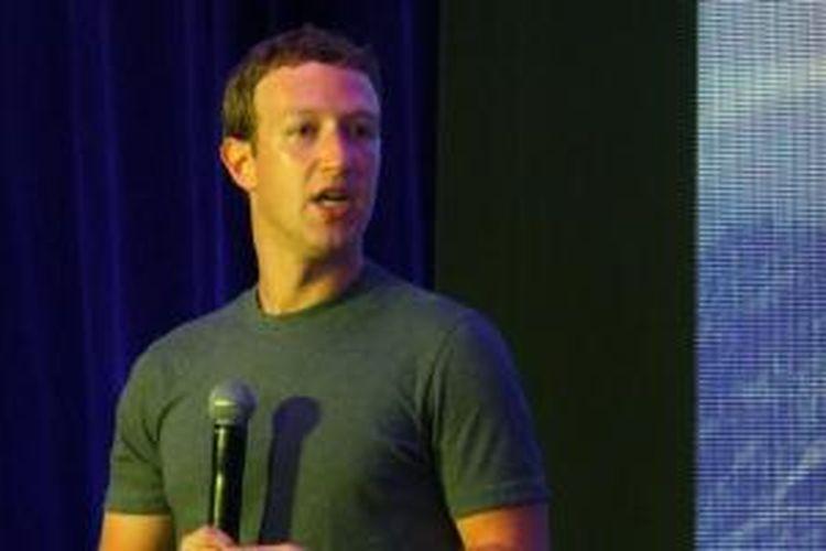 Mark Zuckerberg saat membuka workshop Internet.org di Jakarta, Senin (13/10/2014).