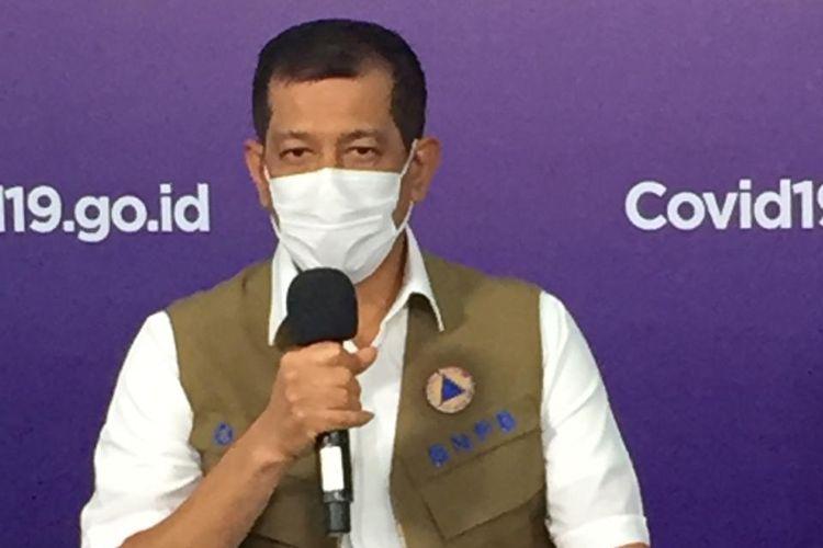 Doni Monardo dalam bincang-bincang spesial ?Media Bertanya, Doni Monardo Menjawab di Media Center Satgas Covid-19, Graha BNPB Jakarta, Jumat (9/10/2020).