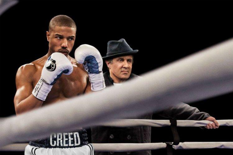 Michael B Jordan dan Sylvester Stallone dalam Creed (2015)