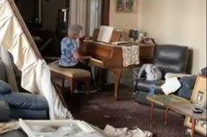 [VIDEO] Nenek Ini Mainkan Piano di Apartemennya yang Porak Poranda Akibat Ledakan di Beirut