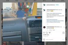 Video Viral Emak-emak Naik Motor Nekat Masuk Tol, Bisa Tap Kartu