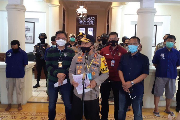 Kapolda Jateng, Irjen Pol Ahmad Luthfi dalam konferensi pers di Solo, Jawa Tengah, Selasa (11/8/2020).