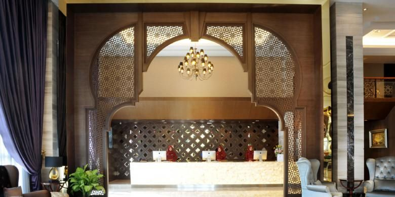 Interior hotel syariah Al Meroz di bangkok, Thailand.