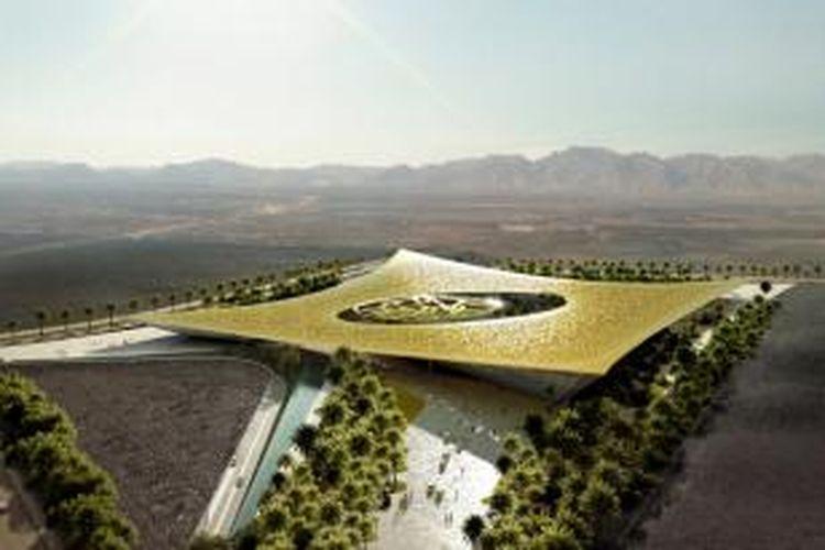 Firma arsitektur asal Madrid, Rafael de La-Hoz, merilis visualisasi hasil desainnya untuk kompetisi Noble Quran Oasis.
