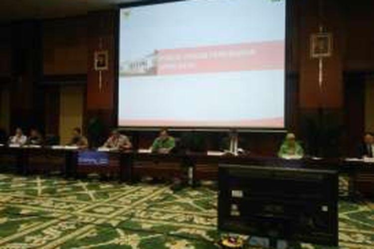 Menteri Keuangan Bambang PS Brodjonegoro dalam konferensi pers soal UU Tax Amnesty dan UU APBN Perubahan 2016, Jakarta, Rabu (29/6/2016).