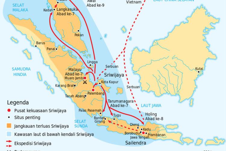 Jalur perdagangan pada masa Kerajaan Sriwijaya