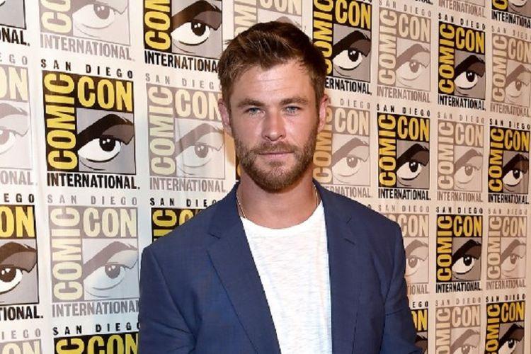 Aktor Chris Hemsworth menghadiri presentasi film keluaran Marvel Studios, Thor: Ragnarok, pada acara Comic-Con International 2017 di San Diego Convention Center, San Diego, California, pada 22 Juli 2017.