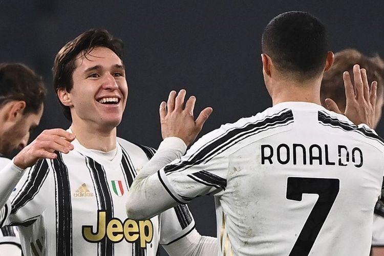 Federico Chiesa menjadi salah satu pahlawan kemenangan Juventus pada laga krusial Liga Italia kontra AC Milan, Kamis (7/1/2020) dini hari WIB.