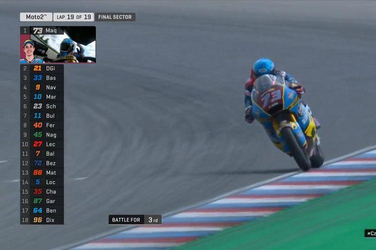 Alex Marquez menang di Brno.