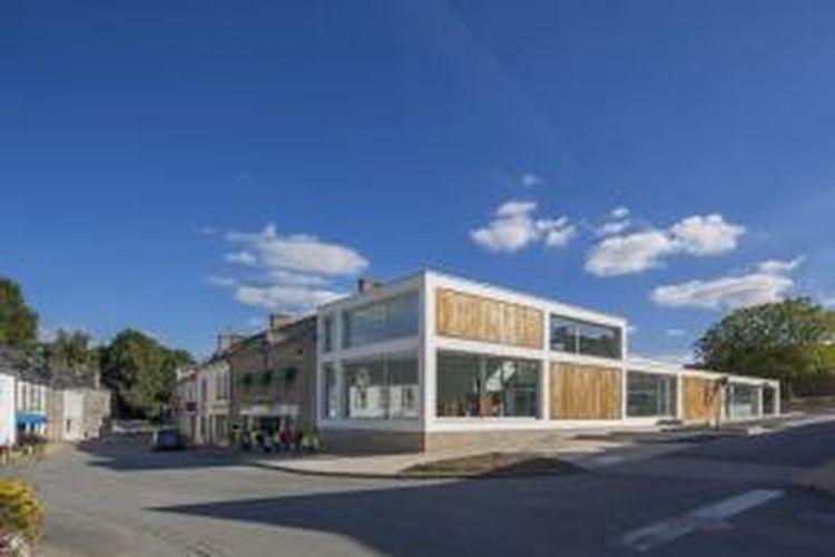 Perpustakaan di Monterblanc, Perancis, ini menawarkan kebaruan dalam desain baik fasad maupun interior.