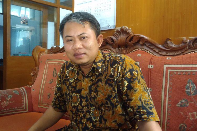 Ketua KPU Gunungkidul Ahmadi Ruslan Hani Saat ditemui di kantornya Selasa(23/4/2019)