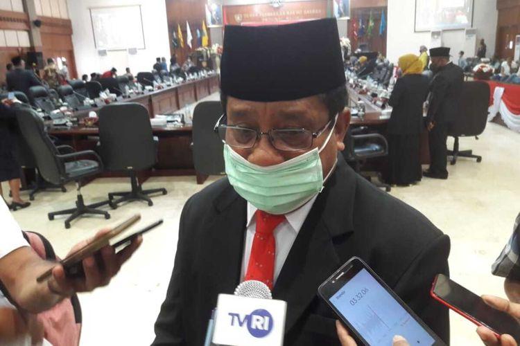 Ketua DPRD Maluku Lucky Wattimury saat diwawancarai wartawan di Kantor DPRD Maluku, Selasa (25/8/2020)
