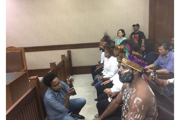 Enam orang aktivis Papua jalani sidang di PN Jakpus Senin (16/12/2019).