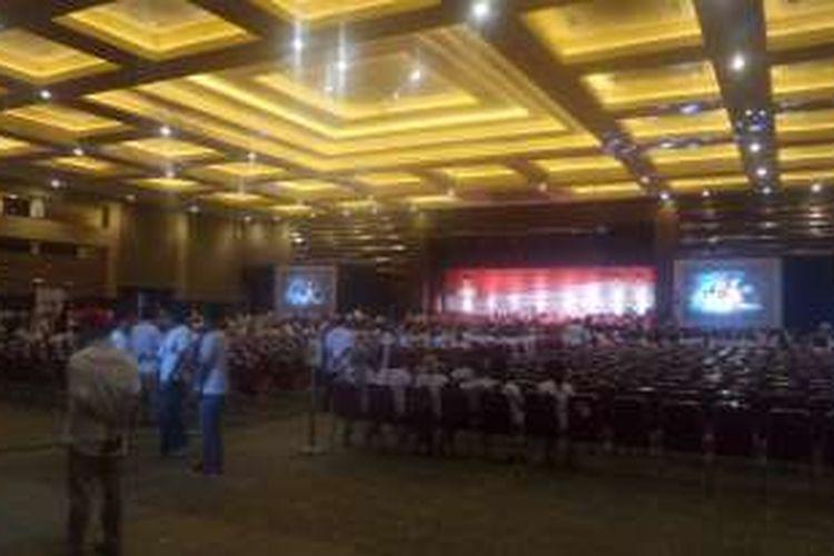 Rapat akbar DPD DKI Partai Gerindra di JIEexpo, Jakarta Pusat, Minggu (8/1/2017)