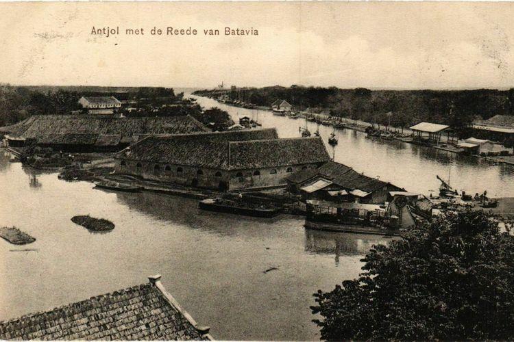 Kartu pos bergambar Ancol di era Batavia
