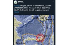 Gempa Magnitudo 5,6 Guncang Sulawesi Utara, Tak Berpotensi Tsunami