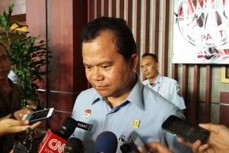 Direktur Jenderal Imigrasi Ronny F Sompie di Gedung Kementerian Hukum dan HAM, Jakarta, Senin (4/4/2016).