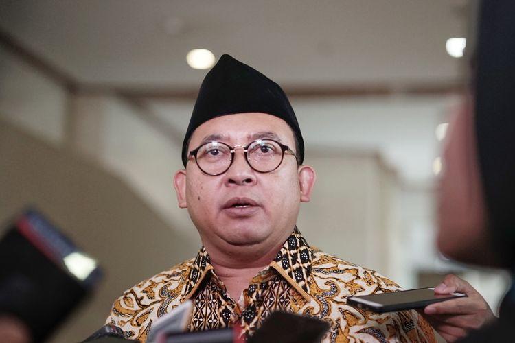 Anggota Dewan Pengarah Badan Pemenangan Nasional pasangan Prabowo Subianto-Sandiaga Uno (BPN) Fadli Zon di Kompleks Parlemen, Senayan, Jakarta, Selasa (11/6/2019).