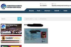 Ramai Unggahan Foto KTP Tanpa Sensor di Website Pemerintah, Ini Penjelasan Kominfo