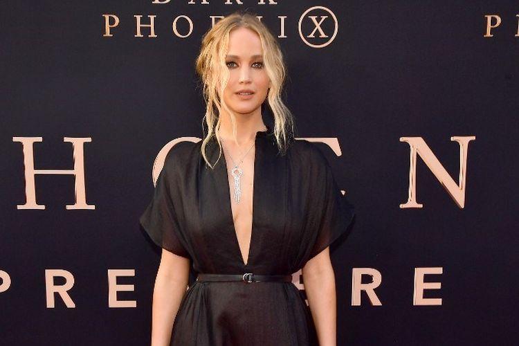 Aktris Jennifer Lawrence menghadiri pemutaran perdana film Dark Phoenix di TCL Chinese Theatre, Hollywood. California, pada 4 Juni 2019.