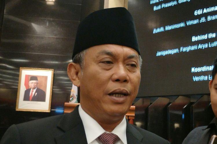 Ketua DPRD DKI Jakarta Prasetio Edi Marsudi di Gedung DPRD DKI Jakarta, Jalan Kebon Sirih, Jakarta Pusat, Kamis (28/11/2019).