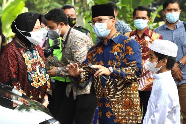 Menteri Sosial Tri Rismaharini dan Ketua Komisi VIII DPR RI Yandri Susanto dalam salah satu kesempatan.