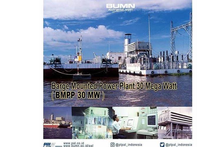 PT PAL Indonesia mengembangkan teknologi berkapasitas listrik 1x30MW dan 2x60MW yang dinamakan Barge Mounted Power Plant (BMPP).