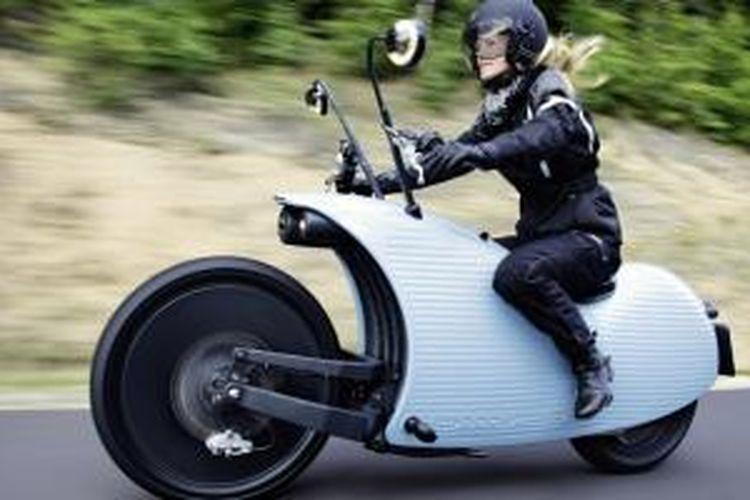 Johammer J1, sepeda motor listrik dengan desain unik.