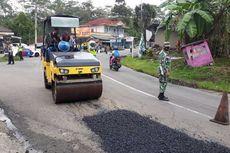 Jalan Provinsi Penuh Lubang, Bupati Banjarnegara Rogoh Kocek Pribadi untuk Perbaiki
