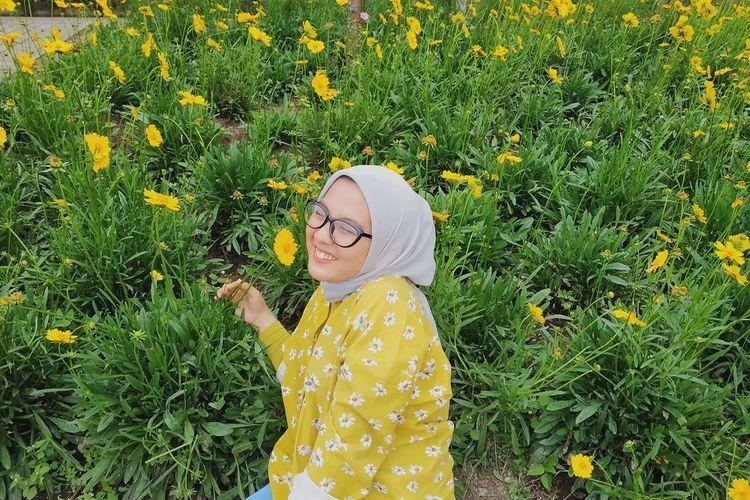 Zafira Andini Muzzamil (22), guru SMAN 5 Bogor, Jawa Barat.