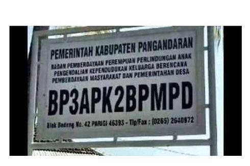 Cerita di Balik Panjangnya Nama Lembaga BP3APKBPMPD di Pangandaran yang Viral
