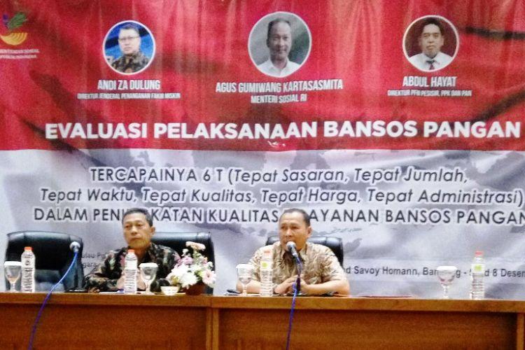 Rapat evaluasi penyaluran bantuan sosial 2018 di Bandung, Jawa Barat, pada 6-8 Desember