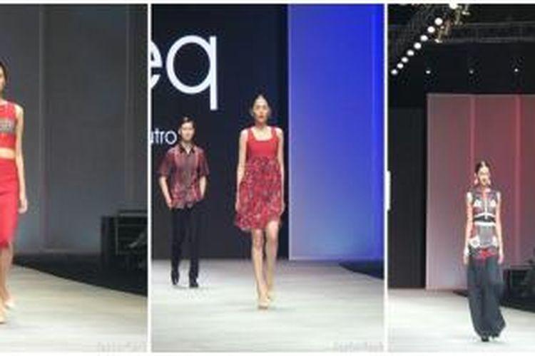 Pada ajang Indonesia Fashion Week 2015, Bateeq menghadirkan koleksi bertajuk Fusion yang memadukan batik dengan busana modern.