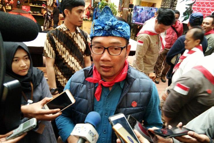 Wali Kota Bandung Ridwan Kamil saat ditemui disela perayaan Sumpah Pemuda di Jalan Sumatera, Sabtu (28/10/2017) lalu.