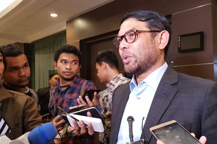 Anggota DPR Fraksi PKS Nasir Djamil saat berada di kawasan Cut Meuthia, Jakarta Pusat, Rabu (4/9/2019).