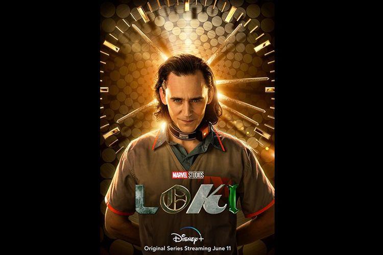 Tom Hiddleston dalam serial televisi Loki (2021).