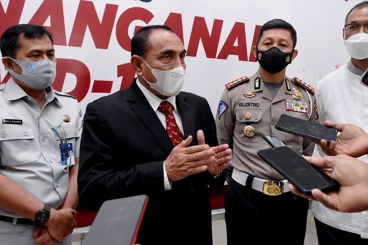 Gubernur Sumut Edy Rahmayadi meluncurkan e-Samsat Sumut Bermartabat di Aula T Rizal Nurdin, Jumat (29/1/2021)