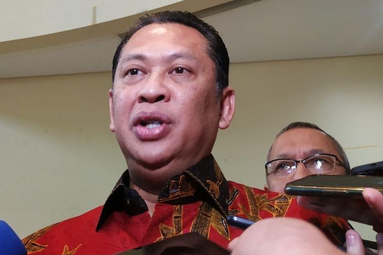 Bambang Soesatyo di Kantor DPP PKS,  Jl TB Simatupang, Jakarta Selatan, Senin (25/11/2019).