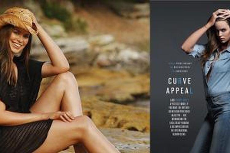 Robyn Lawley, model dengan ukuran 12 dan dikenal sebagai model ukuran plus pertama yang dapat masuk di majalah Sports Illustrated.