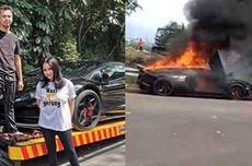 Ini Penyebab Lamborghini Aventador Raffi Ahmad Terbakar di Sentul