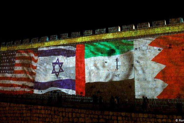 Ilustrasi normalisasi hubungan diplomasi antara Israel dan negara-negara Arab yang dimediasi Amerika Serikat (AS).