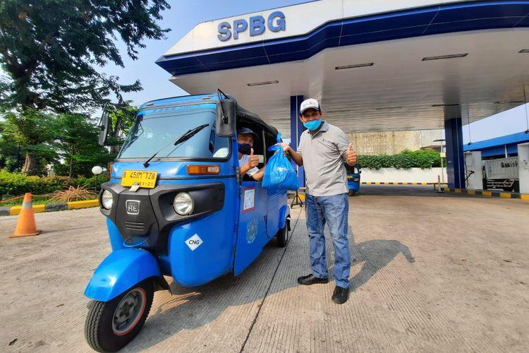 PT Gagas memberikan bantuan kepada pelanggan Gasku, khususnya pengemudi transportasi umum.