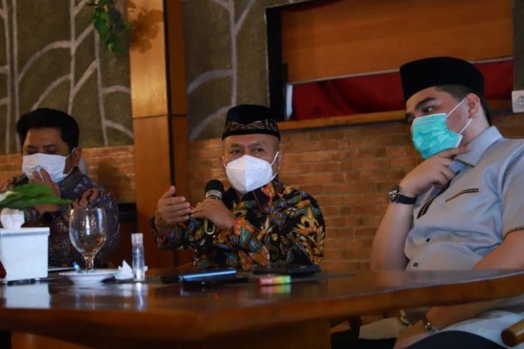 Sekretaris Jenderal Kemenag Nizar dalam acara rapat kerja Direktorat Pendidikan Tinggi Islam Ditjen Pendidikan Islam Kemenag di Cipanas, Jawa Barat.