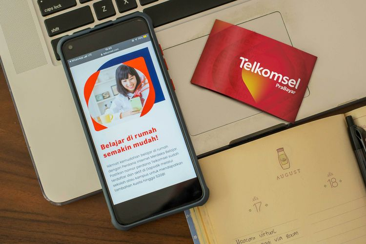 Ilustrasi kartu perdana Telkomsel.