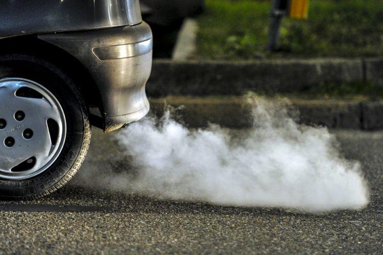 Ilustrasi emisi kendaraan.